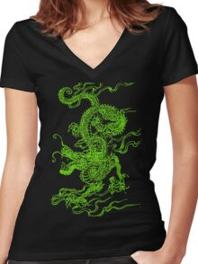 Jade Dragon Women's Fitted V-Neck T-Shirt