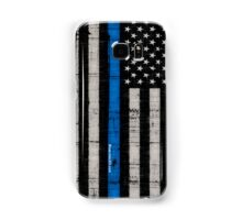Police blue line Flag Samsung Galaxy Case/Skin