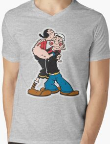 Popeye and Olive are the Best! Mens V-Neck T-Shirt