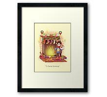 Take the Floo To Santa's Workshop! Framed Print