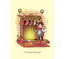 Take the Floo To Santa's Workshop! Photographic Print