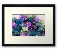 Blue and Purple Dice Framed Print