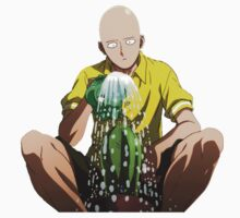 One Punch Man Watering the Cactus iPhone Case Kids Clothes