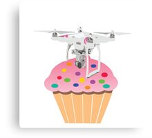 Cute Cupcake Drone Canvas Print