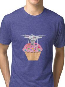 Cute Cupcake Drone Tri-blend T-Shirt