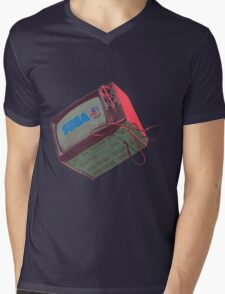 RETRO CRT - SEGA Sonic Mens V-Neck T-Shirt