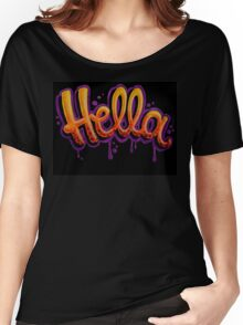 HELLA -SF in black Women's Relaxed Fit T-Shirt
