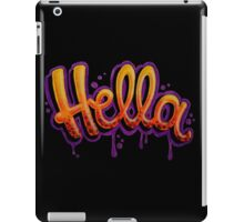 HELLA -SF in black iPad Case/Skin