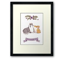 Dogginshield  Love 01 Framed Print