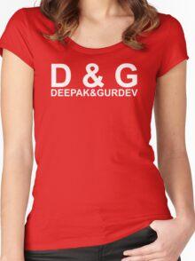 Kurupt Fm Deepak & Gurdev D&G Logo Women's Fitted Scoop T-Shirt
