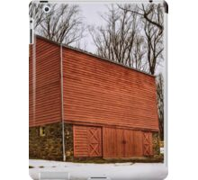 Red Barn White Snow iPad Case/Skin