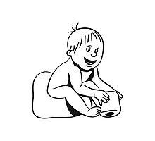 wc baby sitting Photographic Print