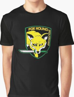 Metal Gear Solid Fox Hound Badge Special Forces Group Logo Graphic T-Shirt