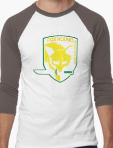 Metal Gear Solid Fox Hound Badge Special Forces Group Logo Men's Baseball ¾ T-Shirt