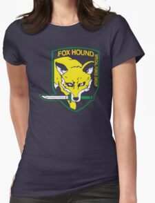Metal Gear Solid Fox Hound Badge Special Forces Group Logo Womens Fitted T-Shirt
