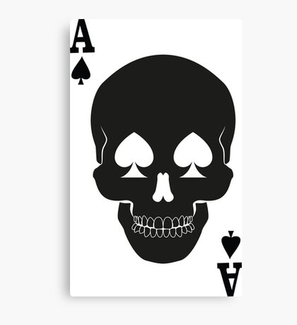 Ace of Death Canvas Print