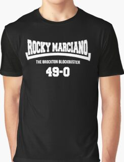 Rocky Marciano The Brooklyn Blockbuster 49-0 Logo Graphic T-Shirt