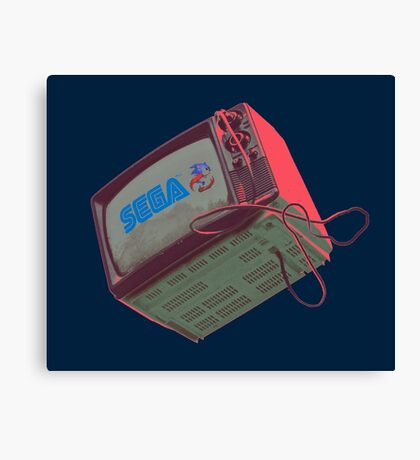 RETRO CRT - SEGA Sonic Canvas Print