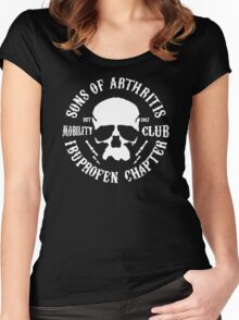 Sons Of Arthritis Funny SOA Parody Women's Fitted Scoop T-Shirt