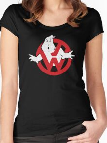 VW Volkswagen Ghostbusters Women's Fitted Scoop T-Shirt