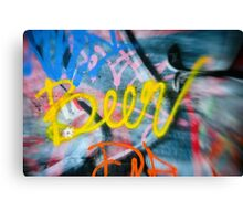 Abstract Graffiti Wall Art Photography - Have a Beer! Canvas Print