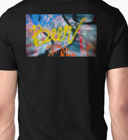 Abstract Graffiti Wall Art Photography - Have a Beer! Unisex T-Shirt
