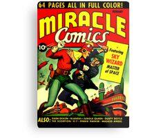 RETRO Golden Age Comic Book Cover Miracle Comics Metal Print