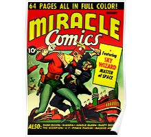 RETRO Golden Age Comic Book Cover Miracle Comics Poster