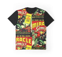 RETRO Golden Age Comic Book Cover Miracle Comics Graphic T-Shirt
