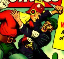 RETRO Golden Age Comic Book Cover Miracle Comics Sticker