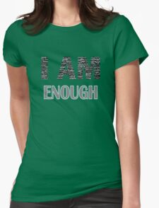 I Am Enough (Blue) Womens Fitted T-Shirt