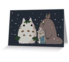 Snow Totoro Greeting Card