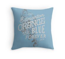Orange & Blue Forever Throw Pillow