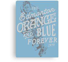 Orange & Blue Forever Canvas Print