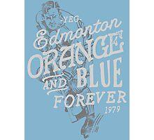 Orange & Blue Forever Photographic Print