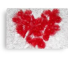 Streaming Heart Canvas Print