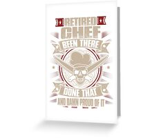 Chef T-shirt , chef, cooking, cook, kitchen, funny, lol, humor, badass, job title, Greeting Card