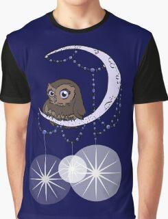 Mid Century Modern Night Owl Graphic T-Shirt
