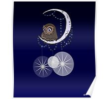 Mid Century Modern Night Owl Poster
