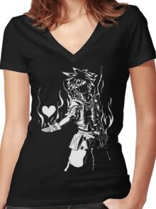 Shadow Fight 3 Women's Fitted V-Neck T-Shirt