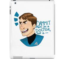 Dammit Man I'm a Doctor iPad Case/Skin
