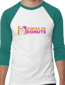 Dunked On Donuts Men's Baseball ¾ T-Shirt