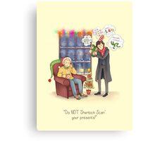 Sherlock's Santa Scan Canvas Print