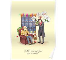 Sherlock's Santa Scan Poster