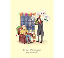 Sherlock's Santa Scan Photographic Print