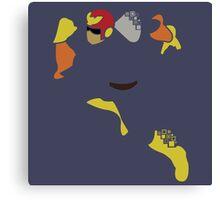 Captain Falcon Pixel Silhouette Canvas Print