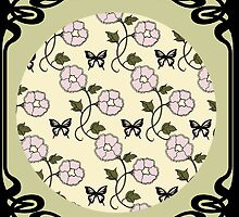 Art Nouveau - 'Flowers and Butterflies' by Linda Callaghan