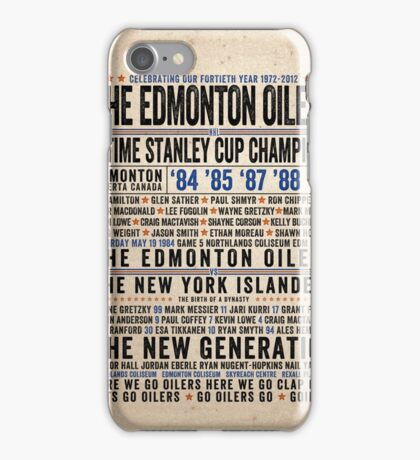 The Edmonton Oilers Dynasty Poster iPhone Case/Skin