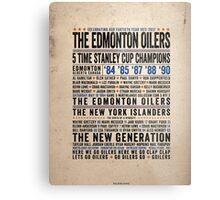 The Edmonton Oilers Dynasty Poster Metal Print