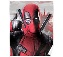 Deadpool with smoke Poster
